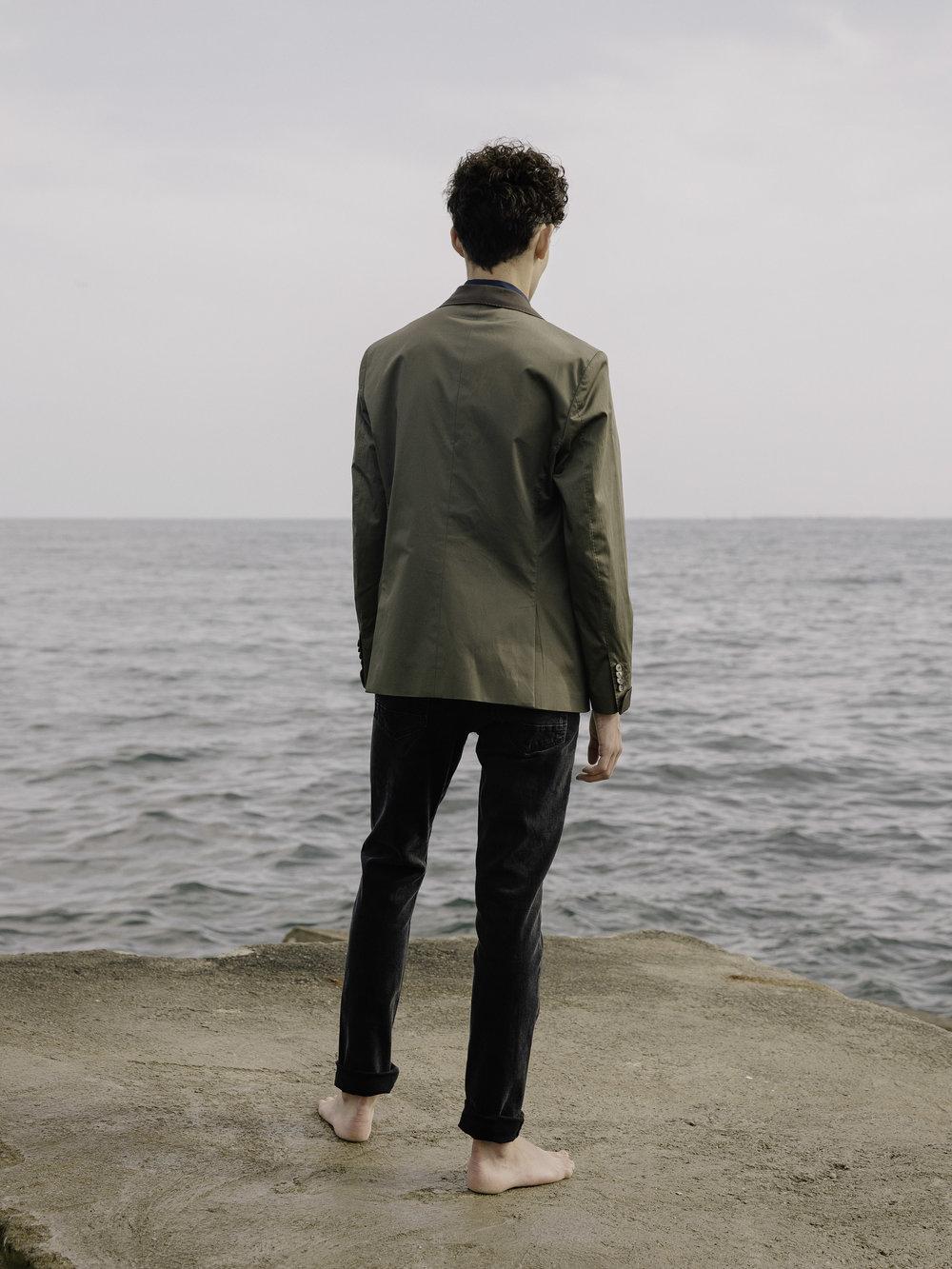 Mango jacket,Octavio N jeans