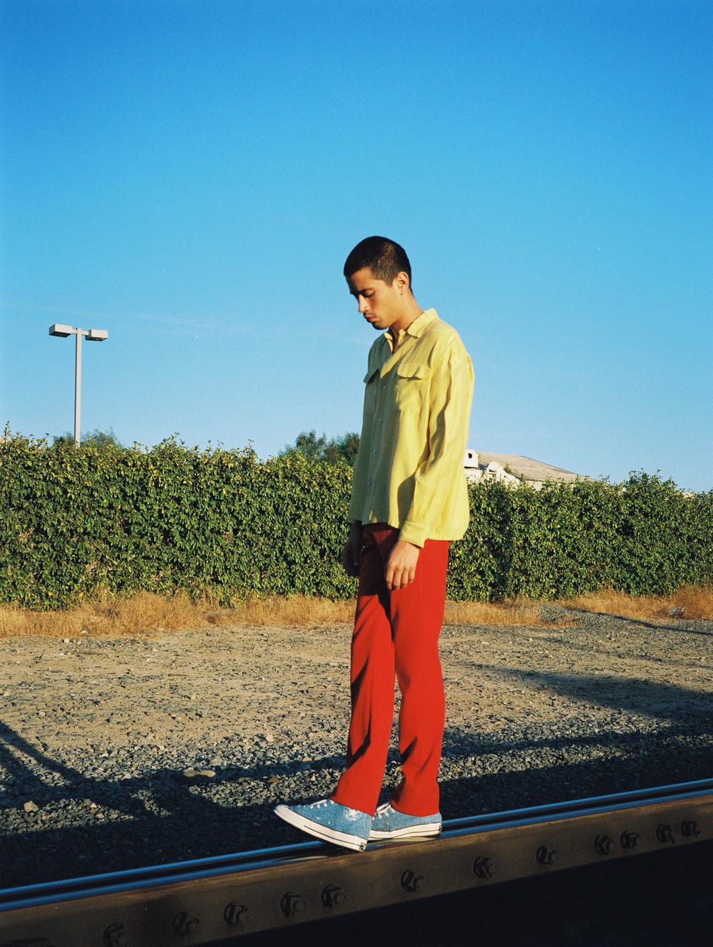 BODE button down, Hugo Boss pants,Converse sneakers