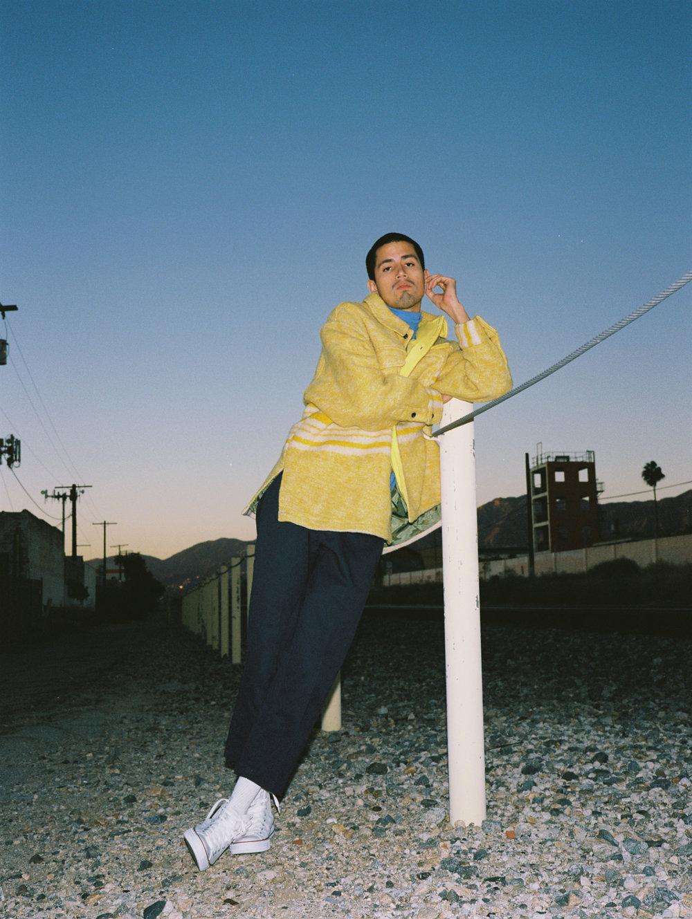 BODE jacket, Vintage turtleneck, Dickies pants, Converse sneakers