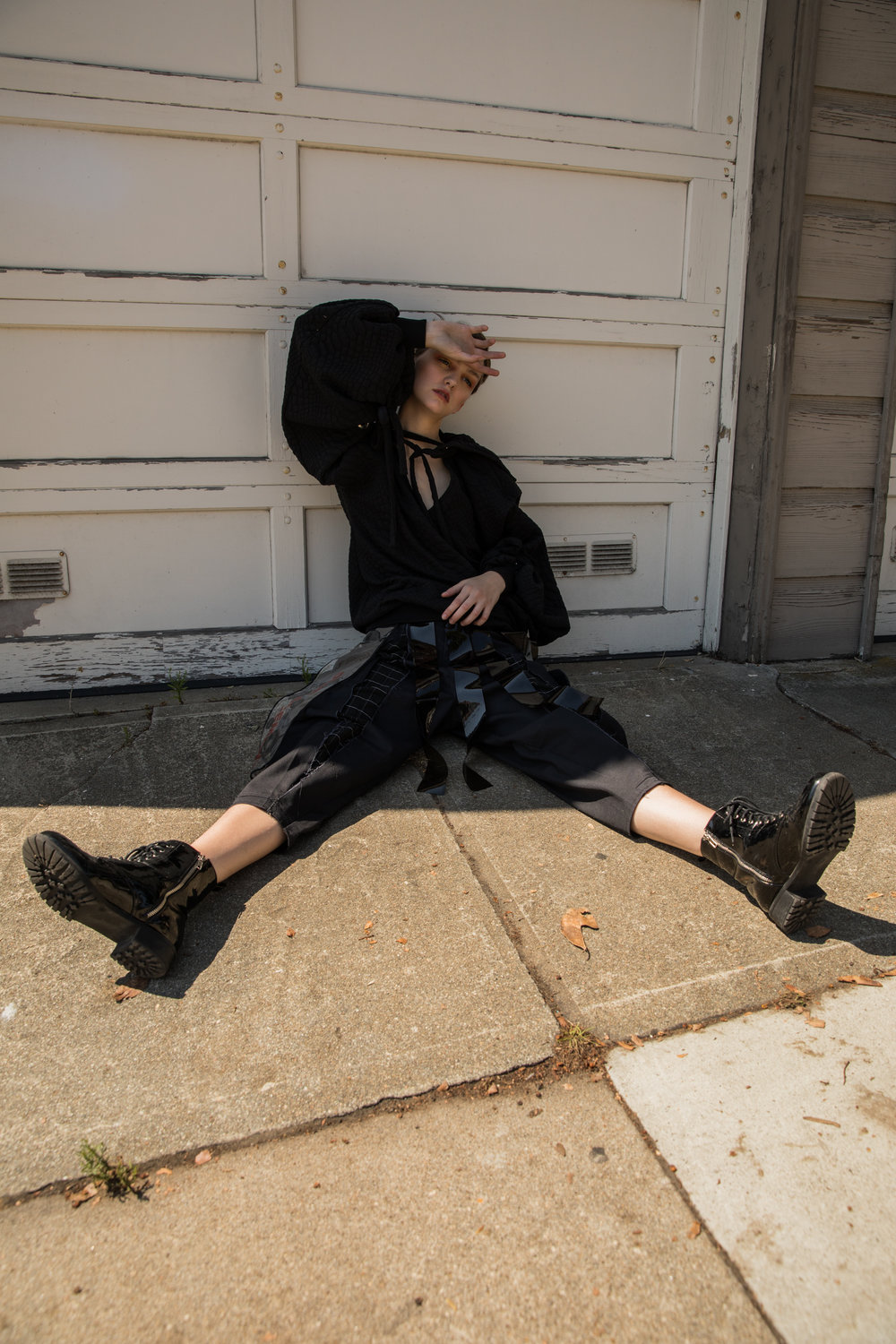 Sweater by Black & Brown,Skirt by Spicy.works,Pants by Eske,Shoes Vintage