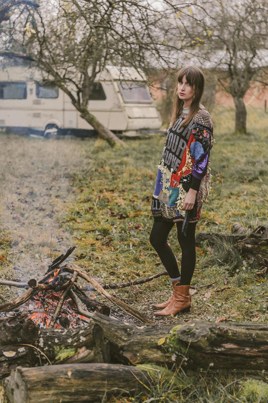 Sweater—LENKA VACKOVA, Legins—BLIND DATE CASUAL,Socks—H&M