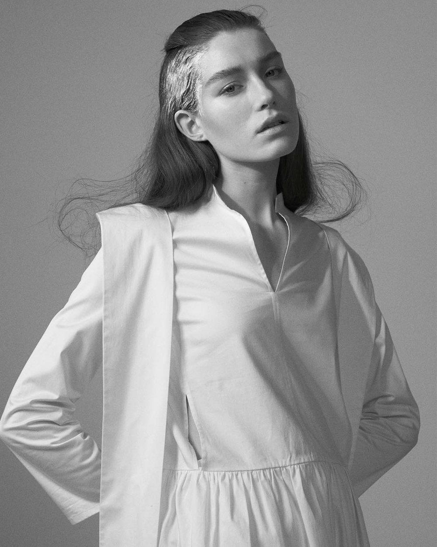White cotton dress from Renli Su