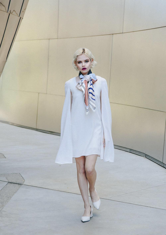 Dress by NASTY GAL, scarf H&M, shoes ZARA Zara