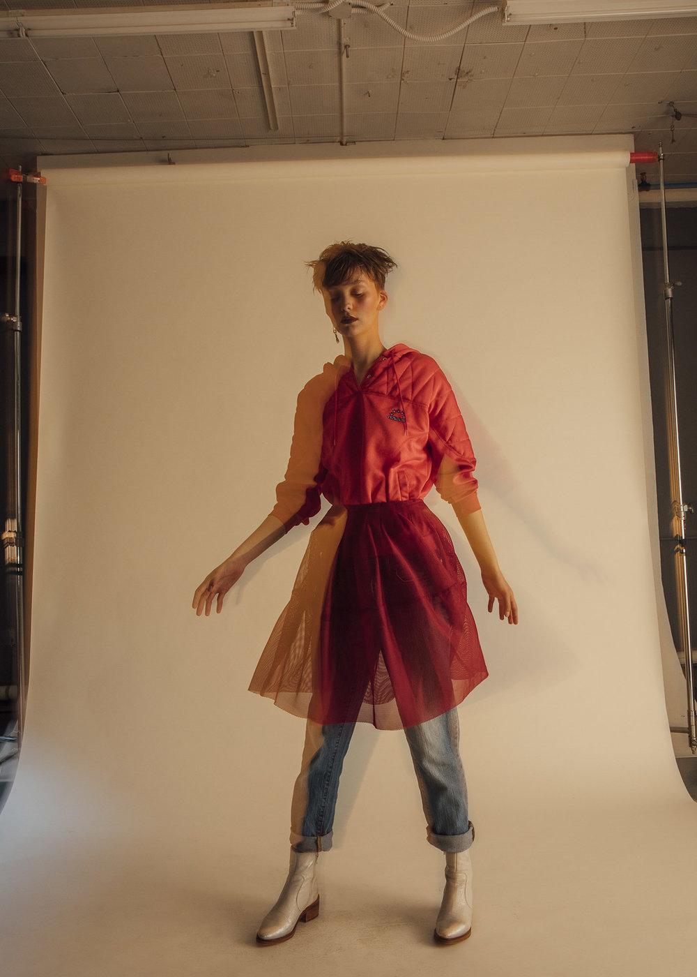 Adidas sweater,Marni skirt,Saint Laurent denim,Miista shoes
