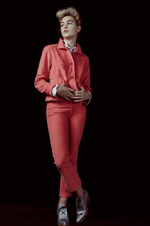 Jacket & trousers by Lykke Wullf, Shirt by Christian Joy, Shoes by PSKaufman