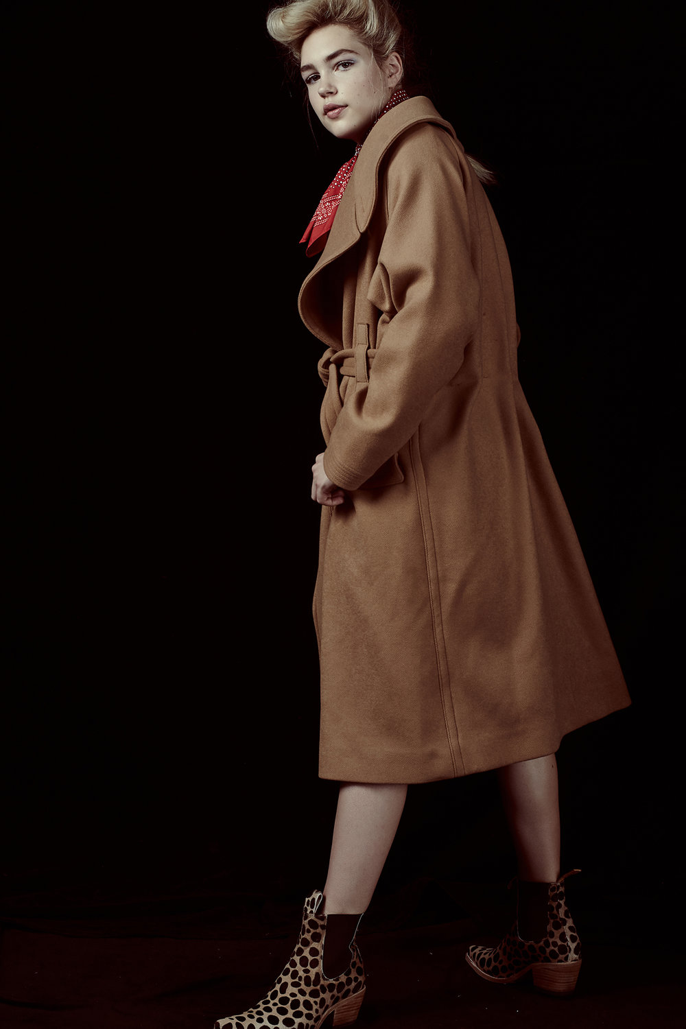 Coat by H&M, Boots by PSKaufman