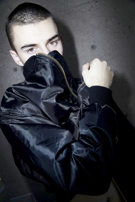 Black bomber jacket by Rothco