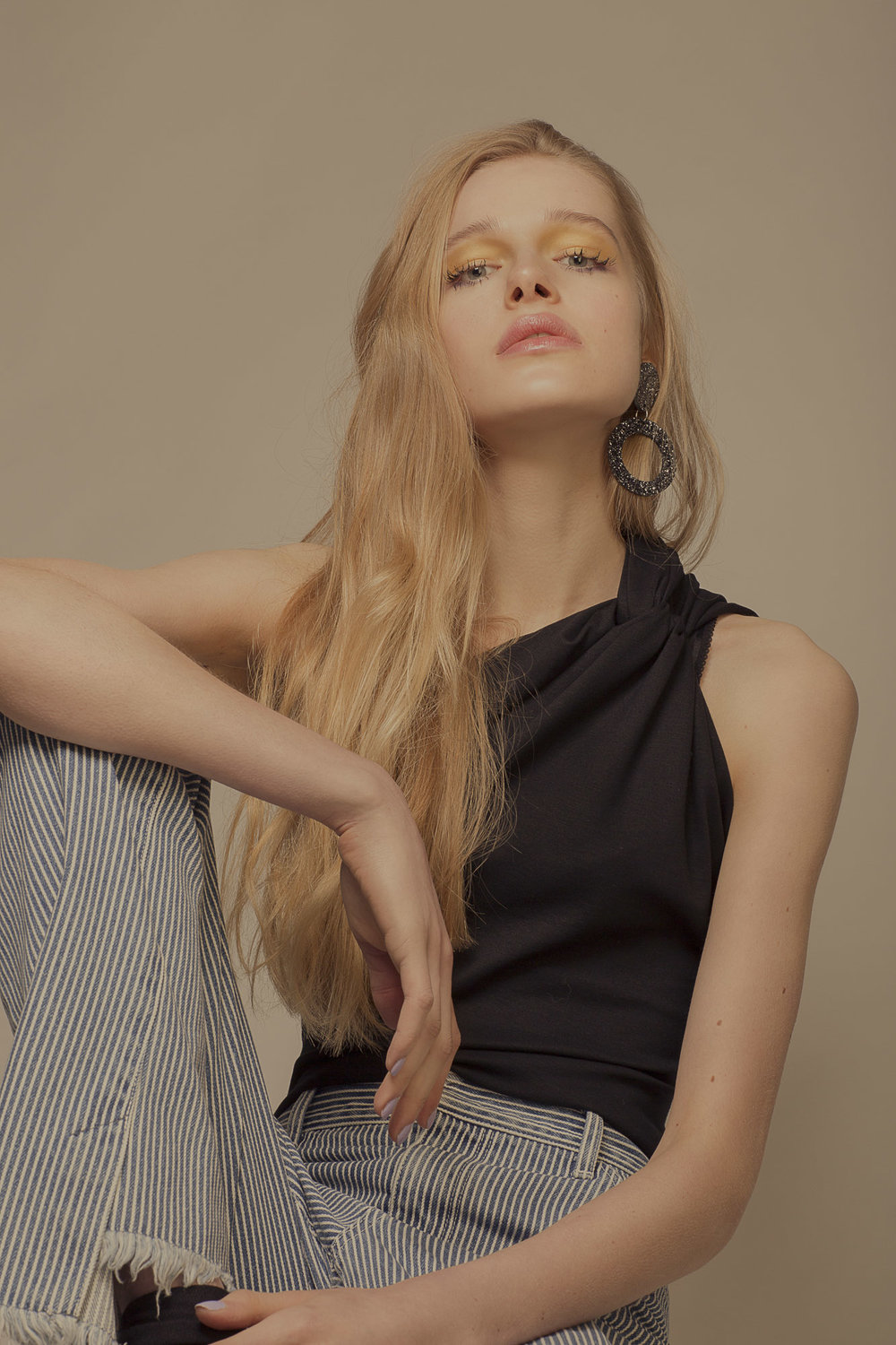 Top by Sid Neigum,Jeans Toga Pulla, Earrings Sophie Cull-Candy