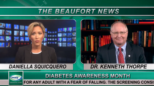 WATCH: Dr. Ken Thorpe on WHHI-TV in Beaufort, SC on 11/9/18 National Diabetes Heart Connection Day