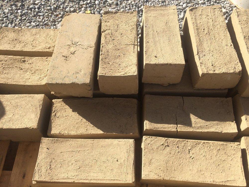 3,750 Adobe Bricks made by 119 people -