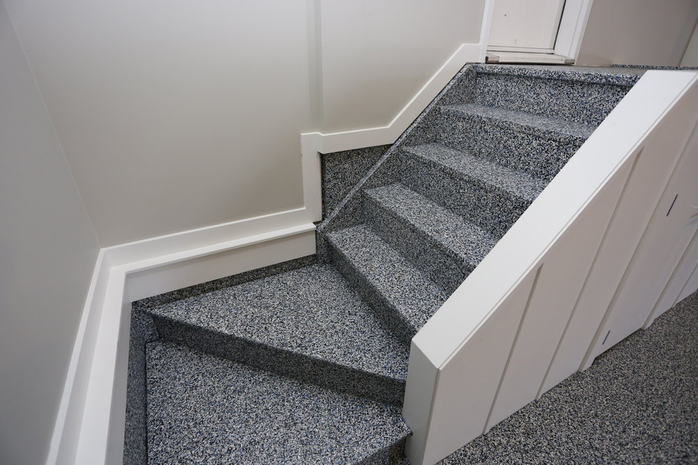 Garage Stairs Coating   We Can Coat Wood Stairs With Our Polyaspartic  Coating To Match The