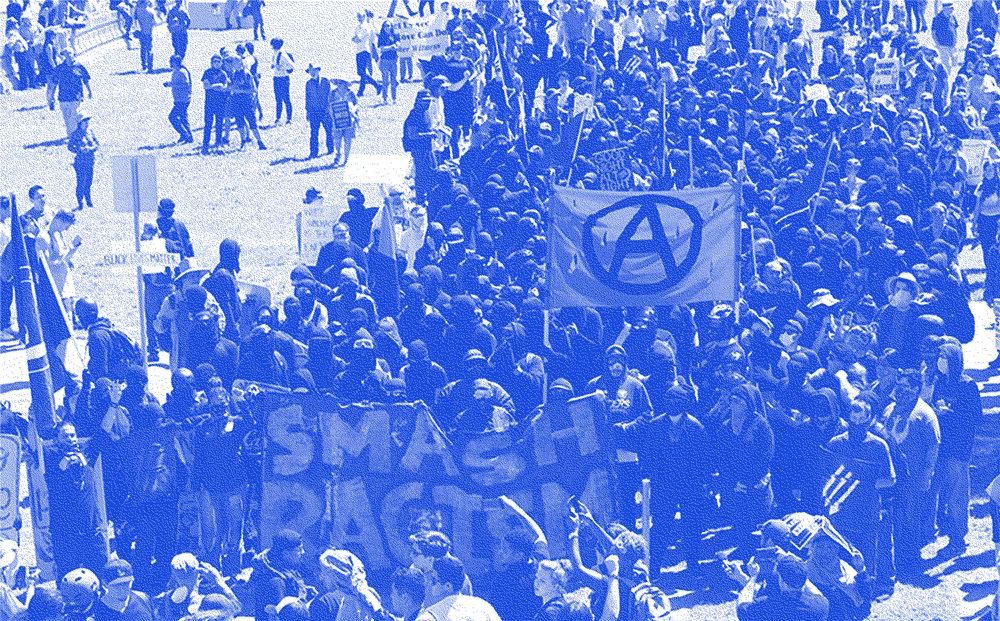 Anti-Fascists in Berkeley - March, 2018.