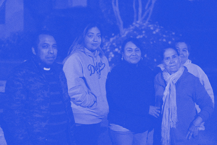 Leslie Hernandez (second from Left) and other Hillside Villa tenants.