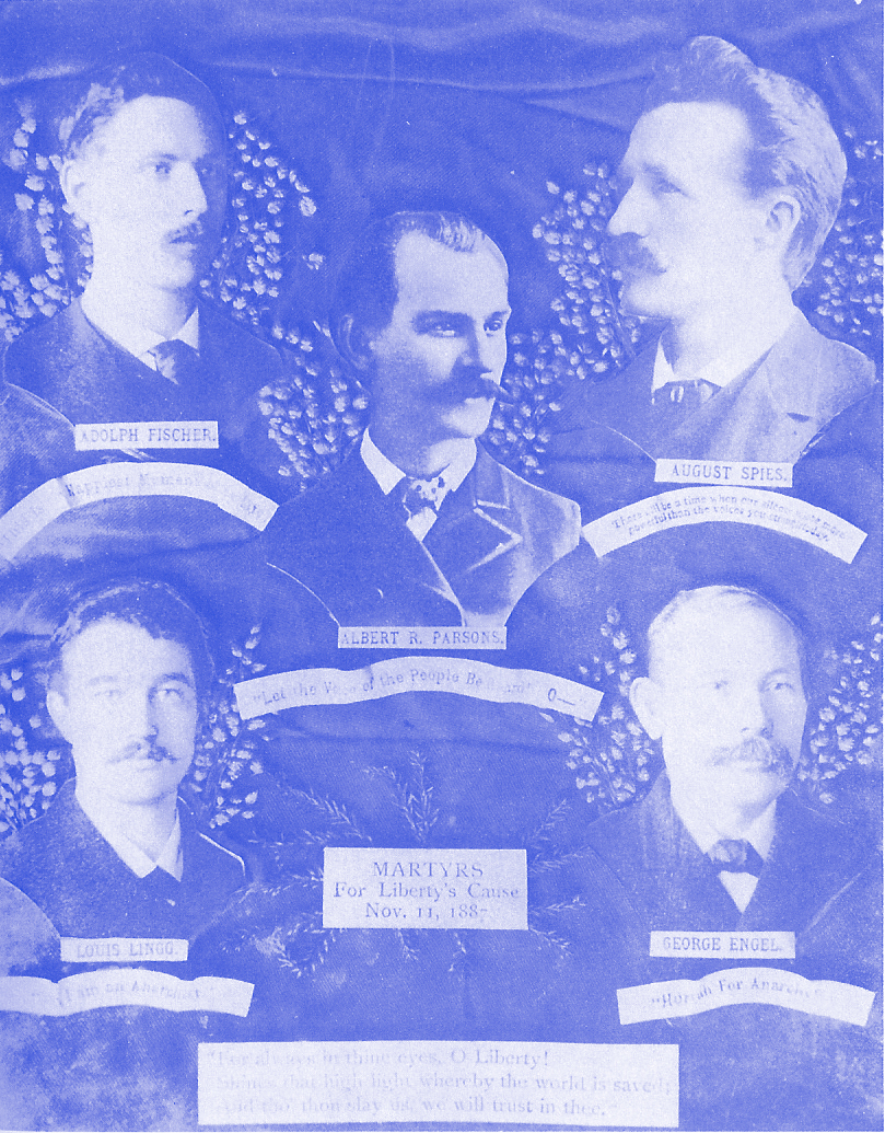 The five martyrs of the Haymarket Affair.