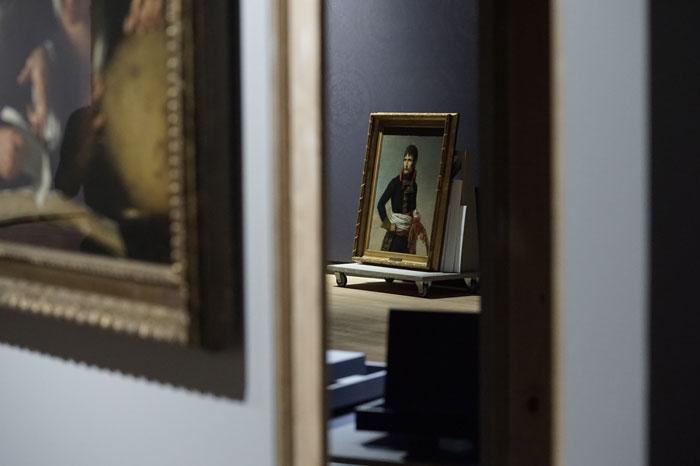 Jennifer Alleyn, Napoléon àl'ombre , 2017, photographie numérique,1 de 5 tirée de la série  Un oeil au Musée .