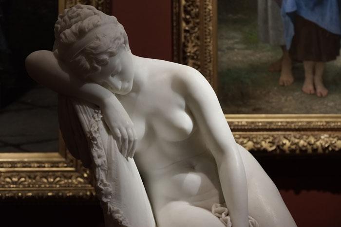 Jennifer Alleyn, L'écho des nus, 2017 , photographie numérique, 1 de 5, tirée de la série  Un oeil au Musée.