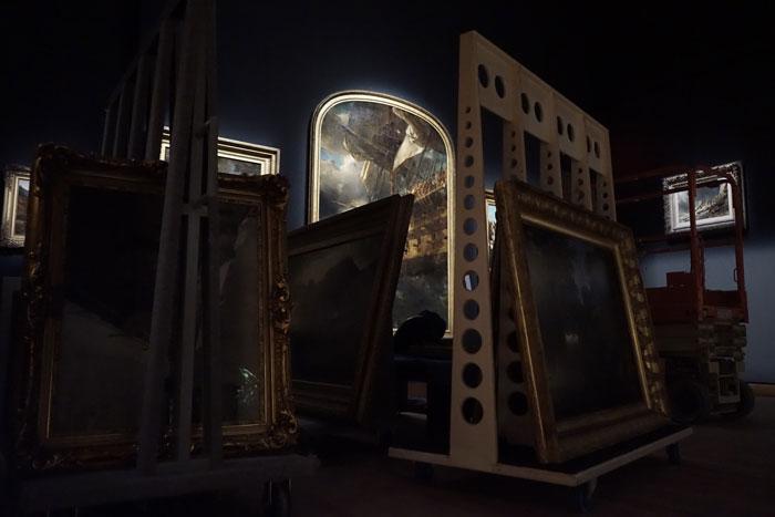 Jennifer Alleyn, Le radeau des tableaux , 2017, photographie numérique,1 de 5, tirée de la série  Un oeil au Musée.