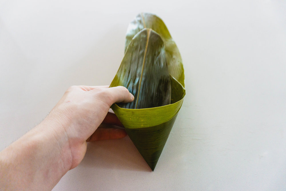 How to wrap a zongzi - part 3