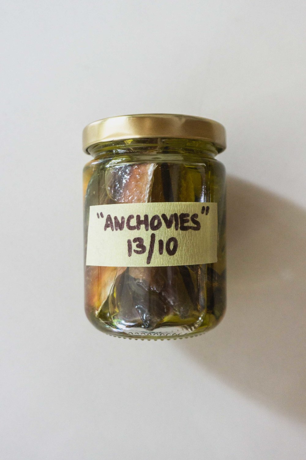 """Anchovies"" in jar"