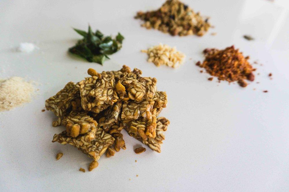 Tempeh granola prep