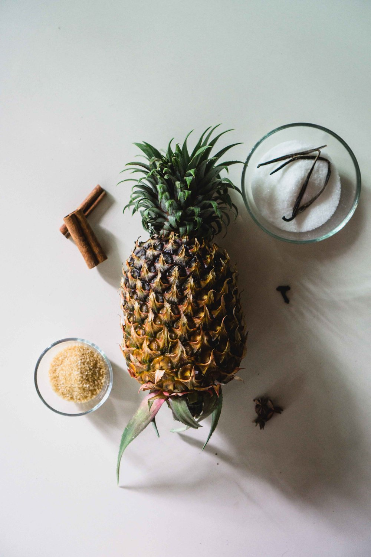 Pineapple jam prep