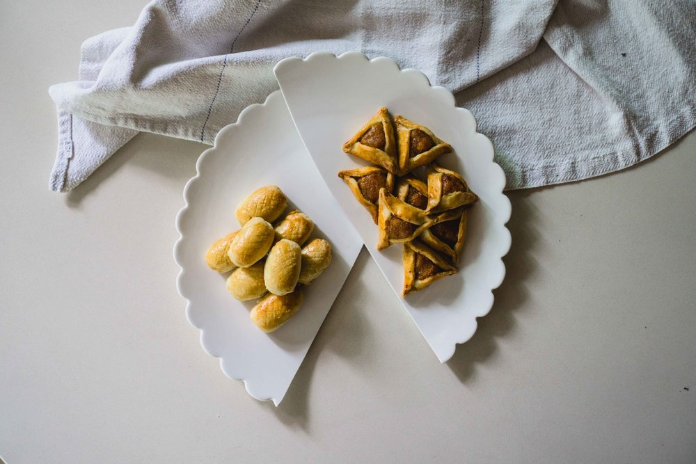 Pineapple tarts and hamantaschens