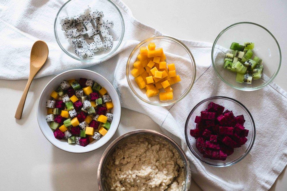 Bara Chirashi Fruit Bowl Rice Pudding
