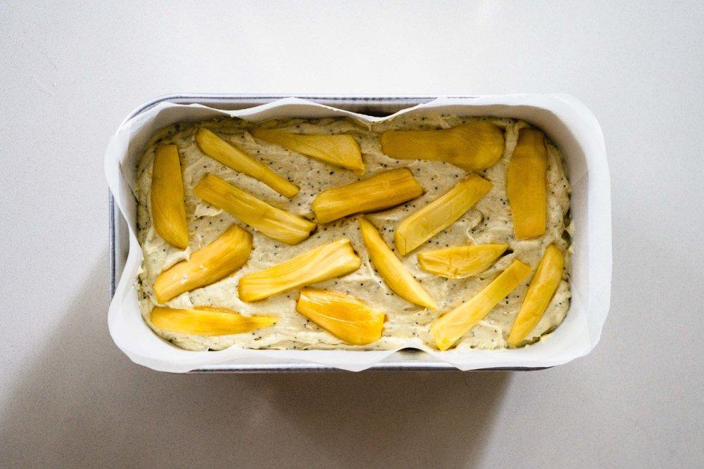 Jackfruit Loaf Cake Pre-Baking
