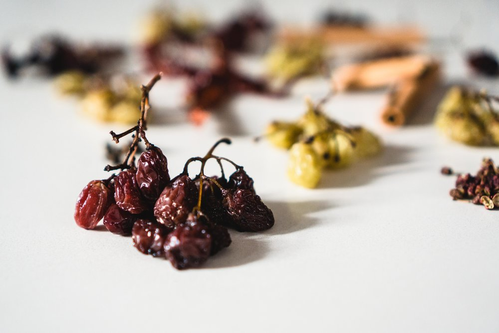 Spicy Sichuan Mulled Grapes