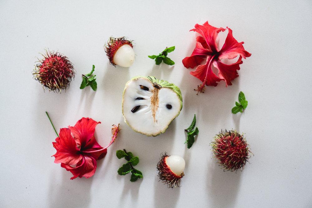 Hibiscus & Rambutan Sorbet Prep