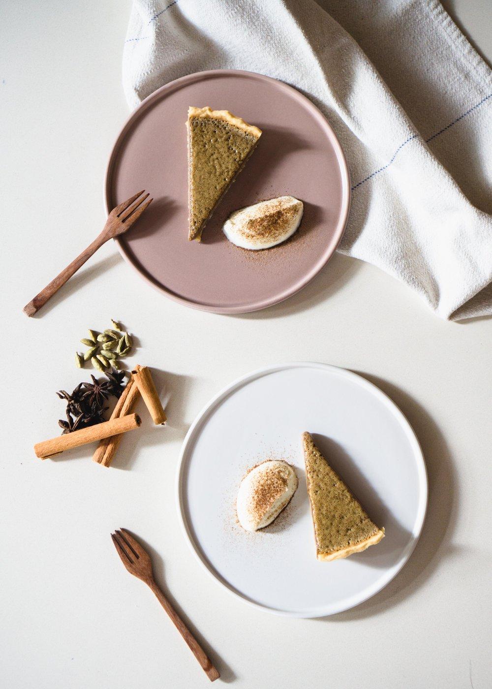 Masala Chai Custard Tart