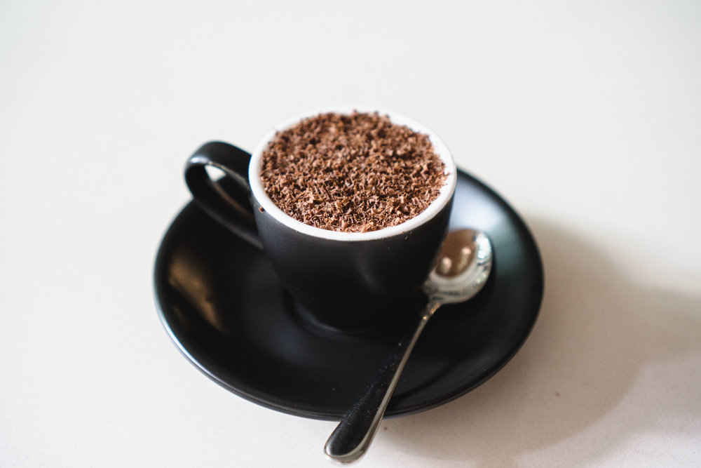 Coffee Jelly with Chocolate Shavings