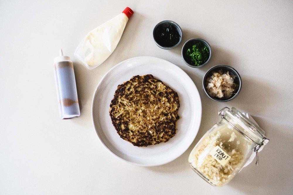Kraut Okonomiyaki Prep