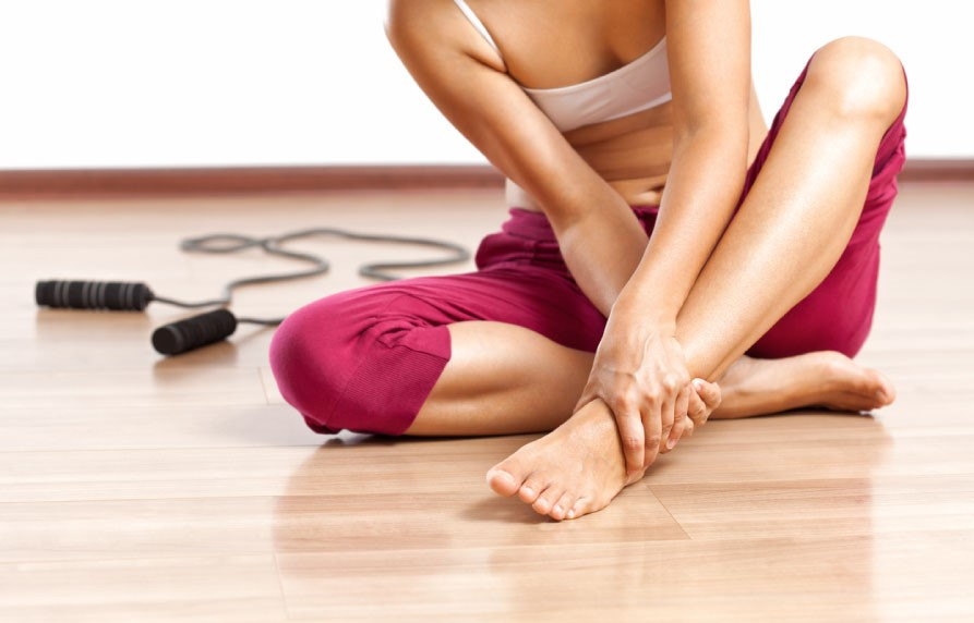 ankle pain during exercising
