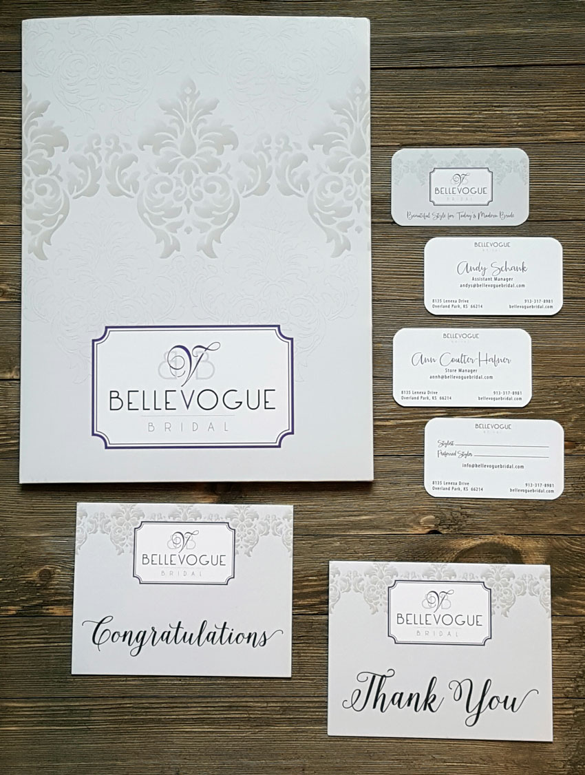 Branded Folders | Thank you cards | congratulations cards | business card design