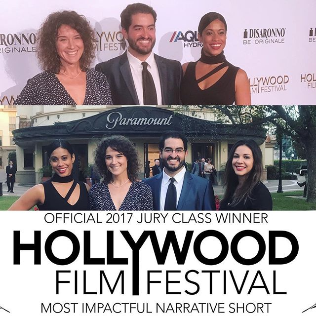 Thank you Hollywood Film Festival, it was a great award ceremony #chocolate #winner #indiefilm #paramountstudios #paramount #alzheimers #homeless #shortfilm #hollywoodfilmfestival #2017
