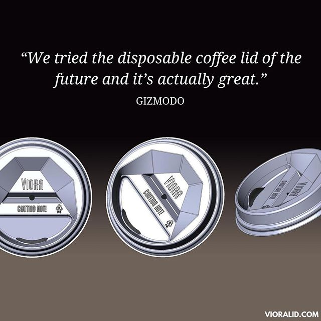Thanks, @gizmodo. You're pretty great too. Check out the coffee lid of the future: link in bio.