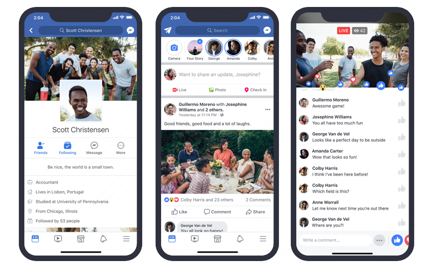 A Part of the Facebook app is developed in React Native