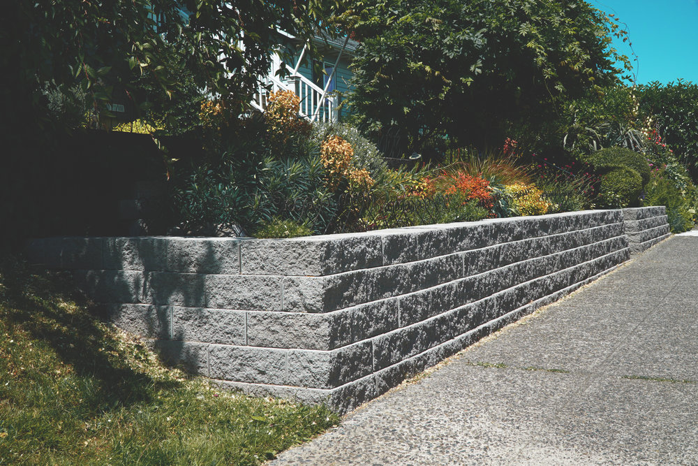 Retaining Wall (Built with Manorstone wall block)