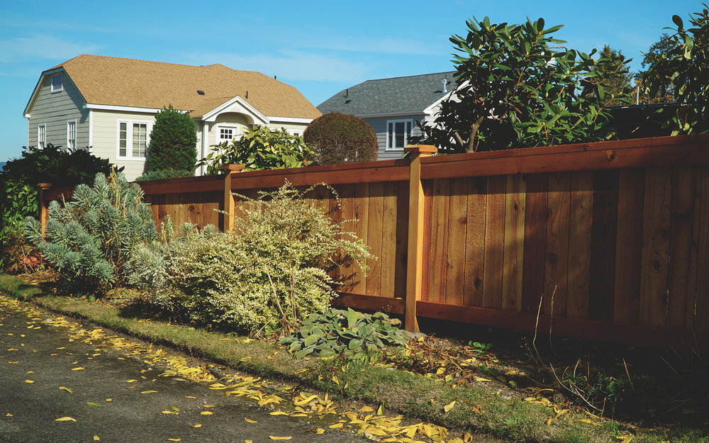 Mini Deluxe Craftsmen Fence (Built entirely with tight knot cedar)