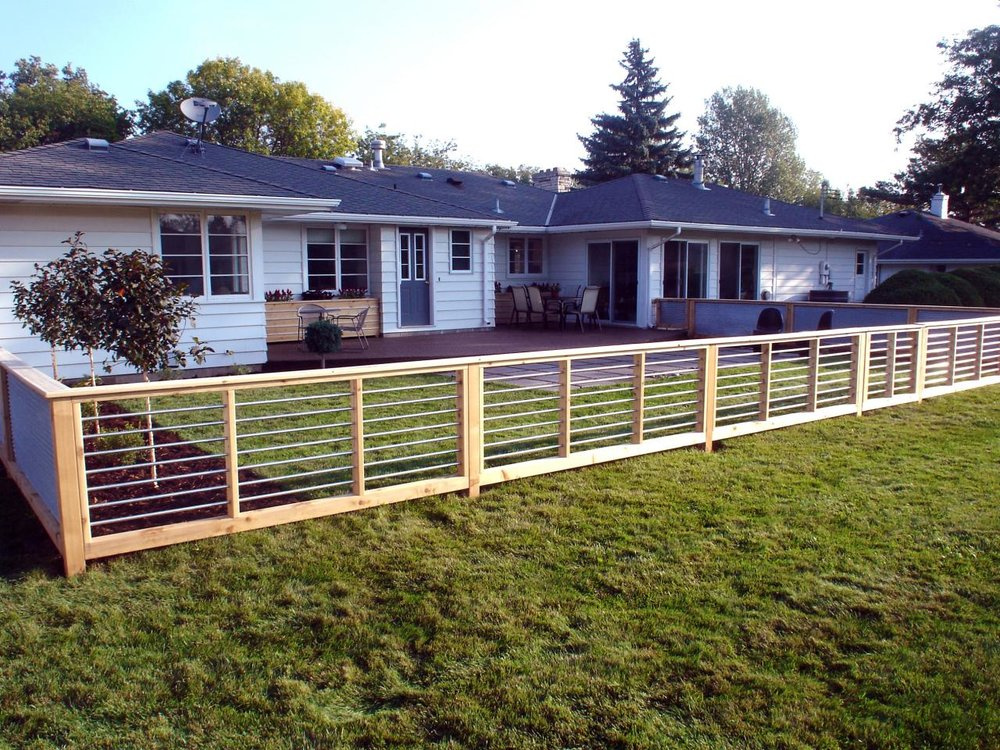 Modern Conduit Fence Tacoma