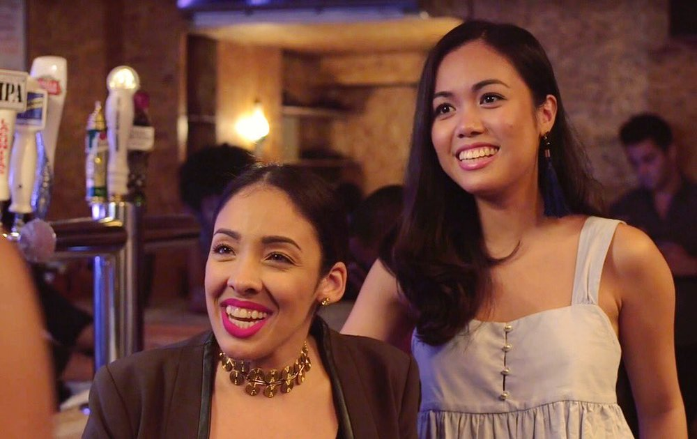 Amylee Sanchez   and   Marie Dinolan   in Situationships Season Two.