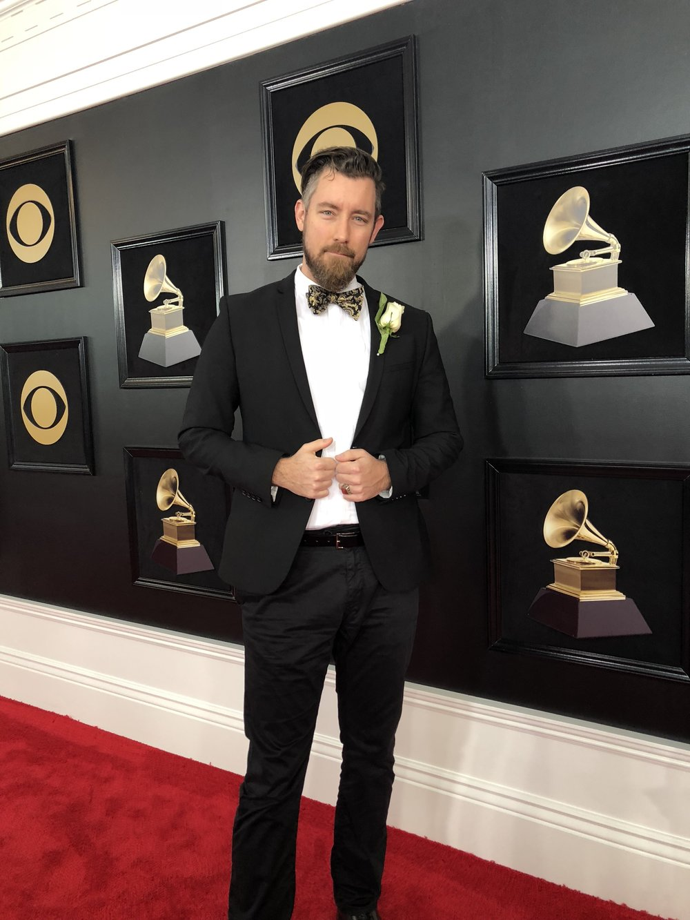 Chandler Poling at the 2018 Grammy Awards in New York City. Source: White Bear PR