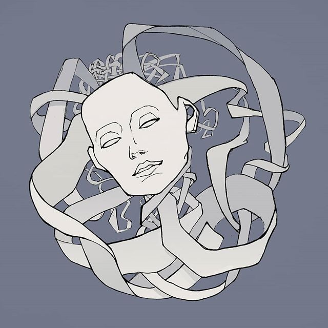 Thought Knot.  Trying out shirt ideas! Been sketching a lot lately, anxious to get back in the groove of posting things. Welcome back, me.  #art #instaart #artistsoninstagram #design #shirtdesign #sketch #heavymind #lowbrow #popsurrealism #drawing