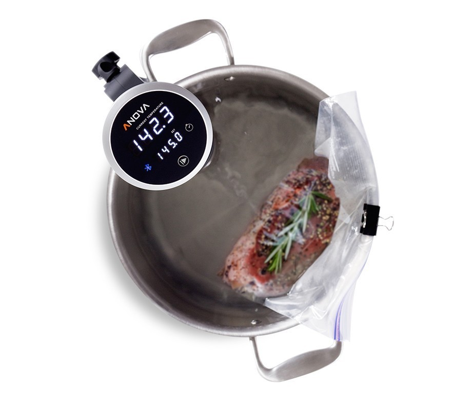 Only a few tools needed - A re-sealable bag, a pot, a clip and food. Once you set it up the Precision Cooker will cook your food to your perfect level of tenderness.