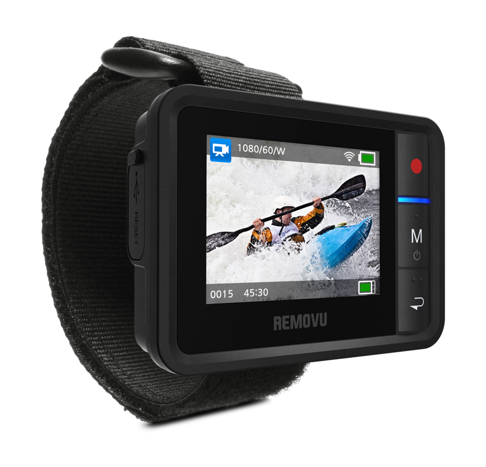 REMOVU R1+ - The R1+ controls all GoPro functions wirelessly with ease. Change settings, record, stop and play all on one device.