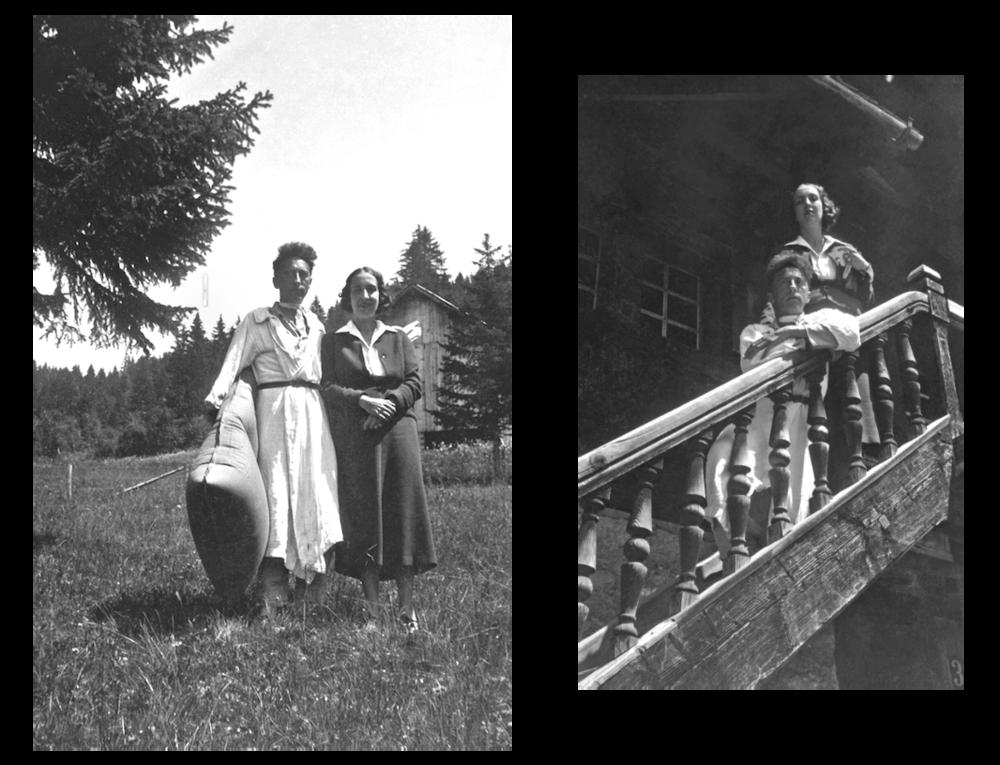 [Igor Markevitch] Jean Cocteau et Marie-Laure de Noailles, Villars-sur-Ollon, Suisse, 1934 Reproductions d'après les originaux, Collection particulière en dépôt à la villa Noailles