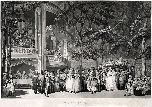 An entertainment in Vauxhall Gardens, about 1779.