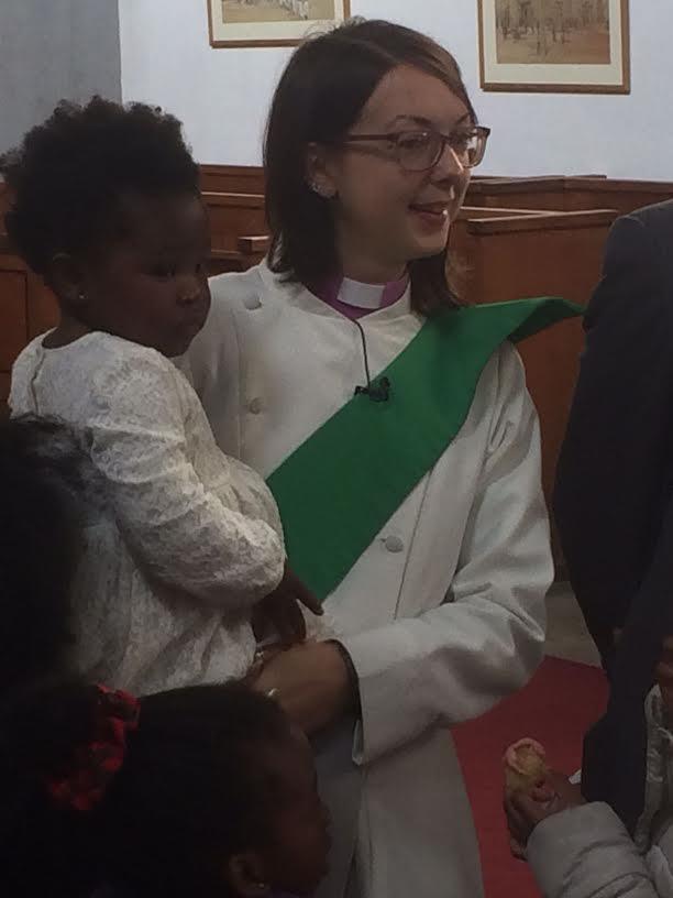 Reina's baptism