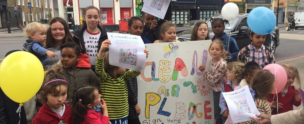Children of St Anselm's calling for a pledge on clean air